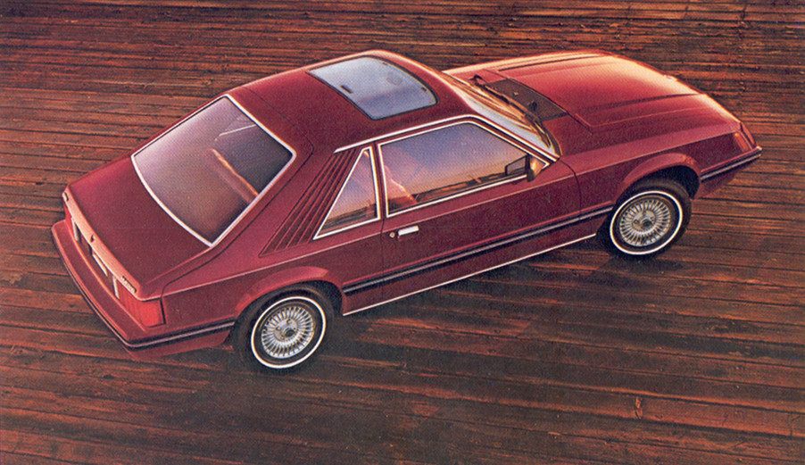 Medium Red 1981 Mustang Ghia Hatchback