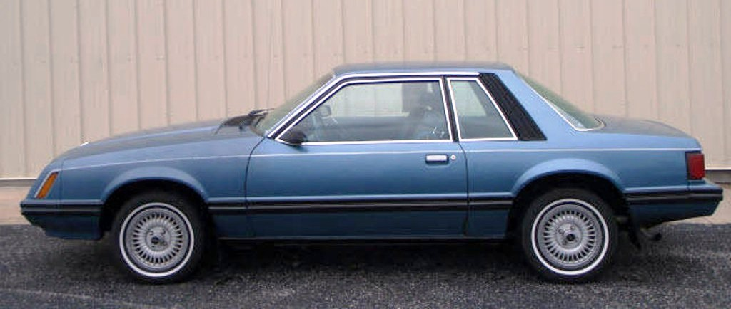 Medium Blue Glow 1982 Mustang Coupe