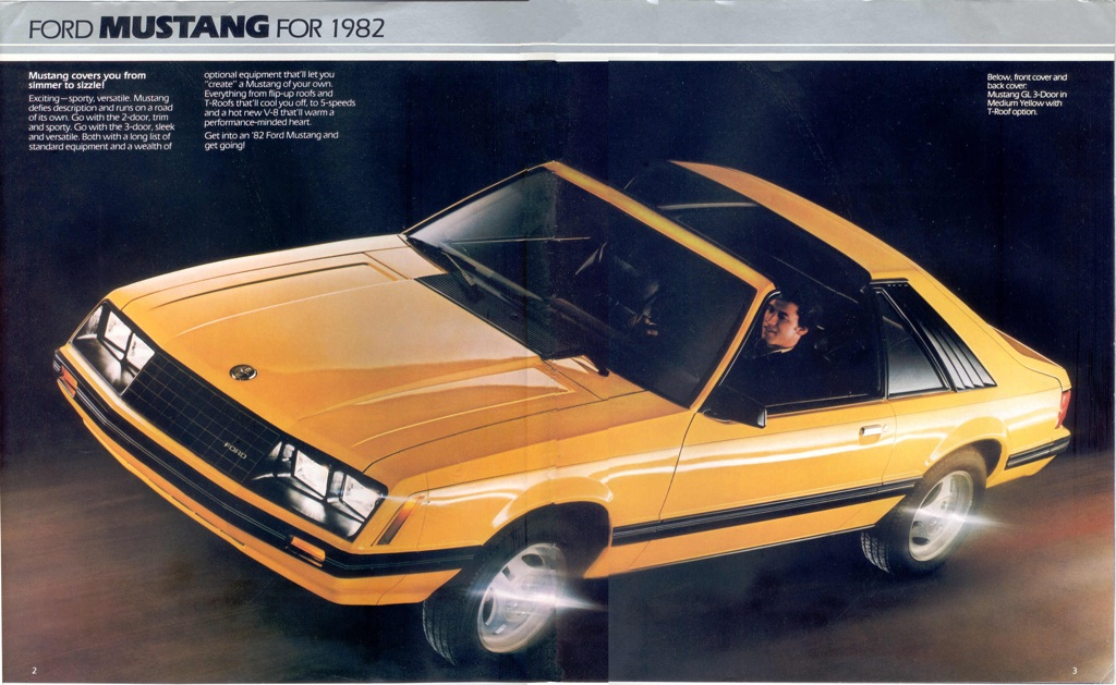 1982 Ford Mustang Promotional Booklet