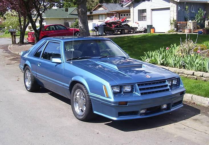 Blue 1982 Ford Mustang Gt Hatchback Mustangattitude Com Photo Detail
