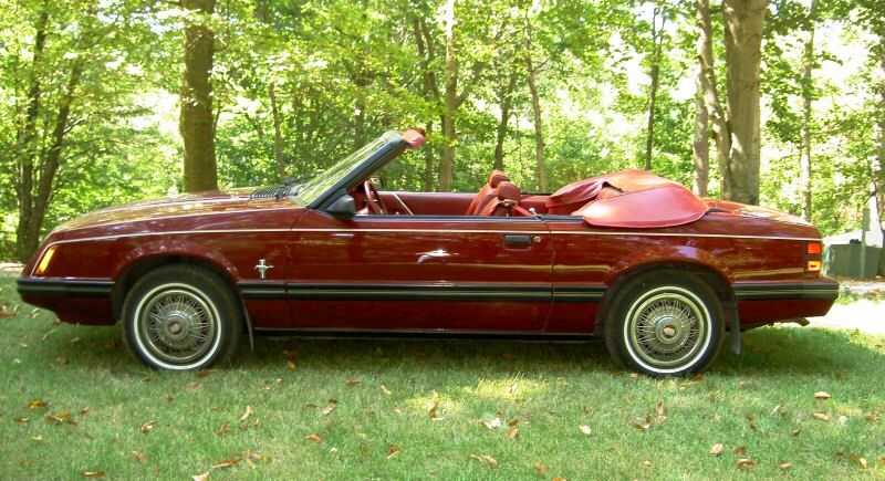 Medium Red Ford Mustang GLX Convertible MustangAttitudecom - Cool cars 1983