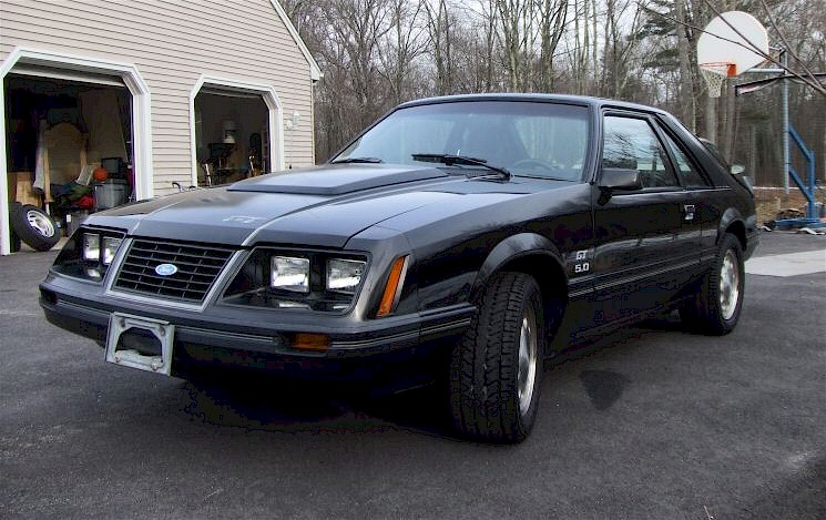 Black 1983 Ford Mustang