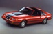 Bright Red 83 Mustang GT T-Top Hatchback