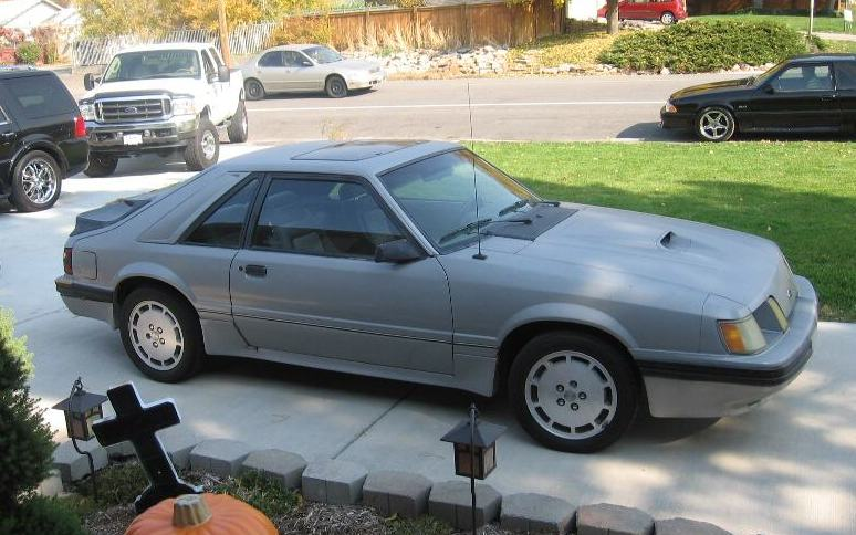 Silver 1984 Mustang Svo