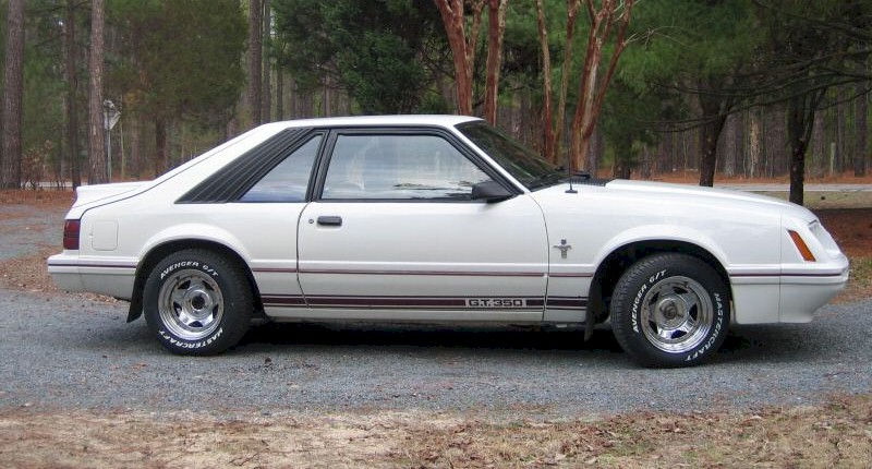 White 84 Mustang GT