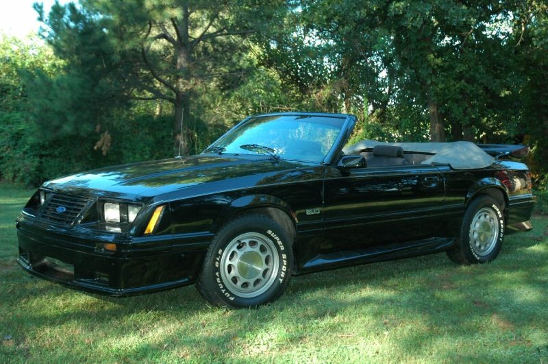 Black 1984 Ford Mustang
