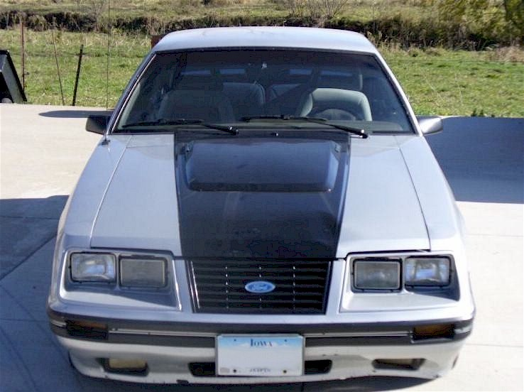 Silver 1984 Ford Mustang GT Turbo Hatchback