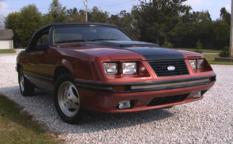 Bright Copper 1984 Mustang Convertible