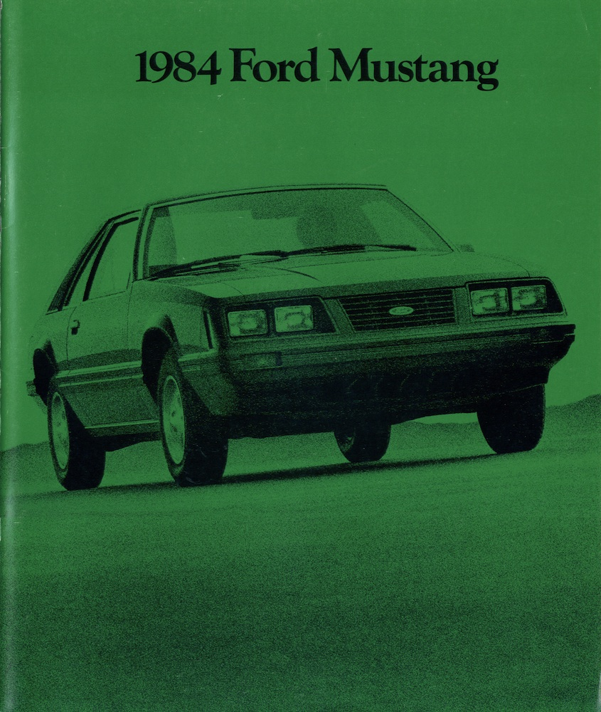 1984 Ford Mustang Promotional Brochure