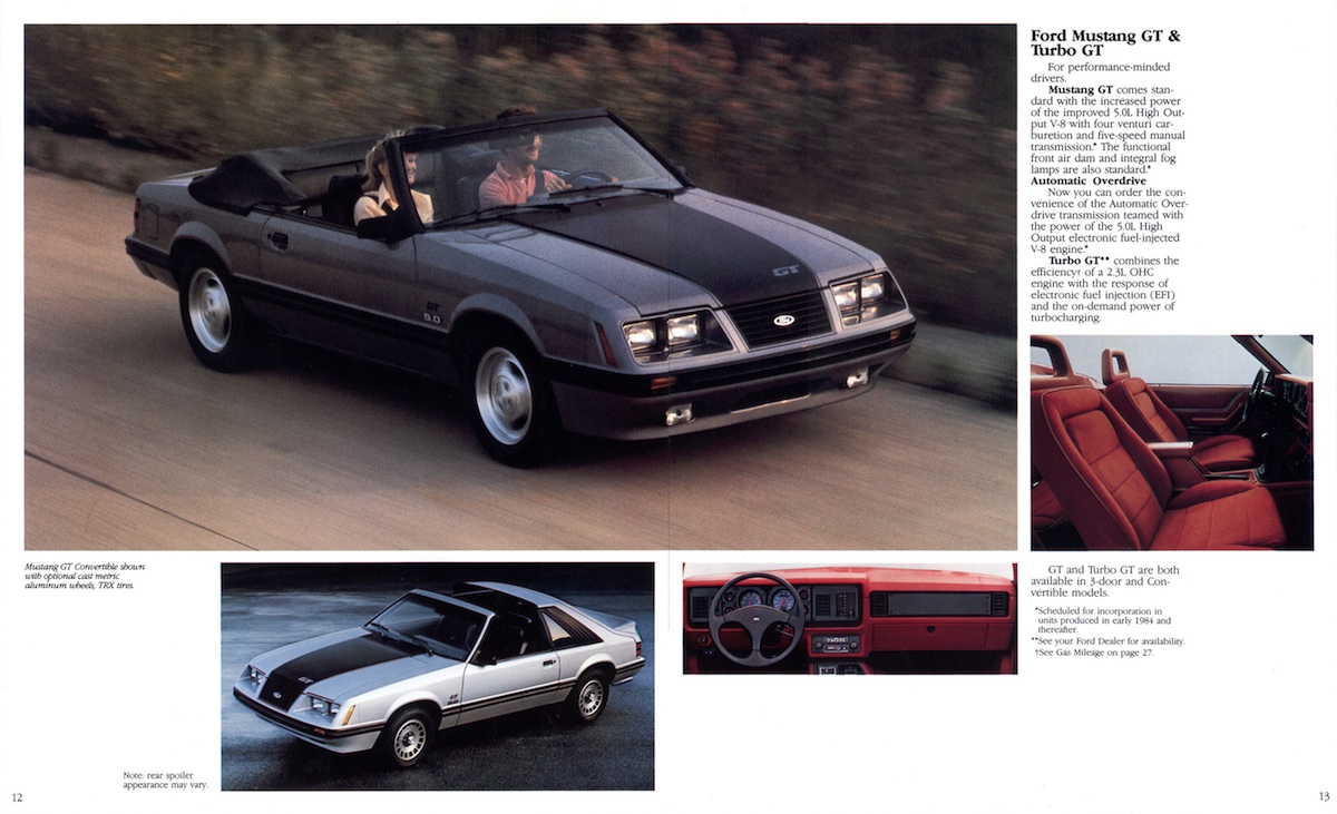 Page 12 & 13: Mustang GT and Turbo GT