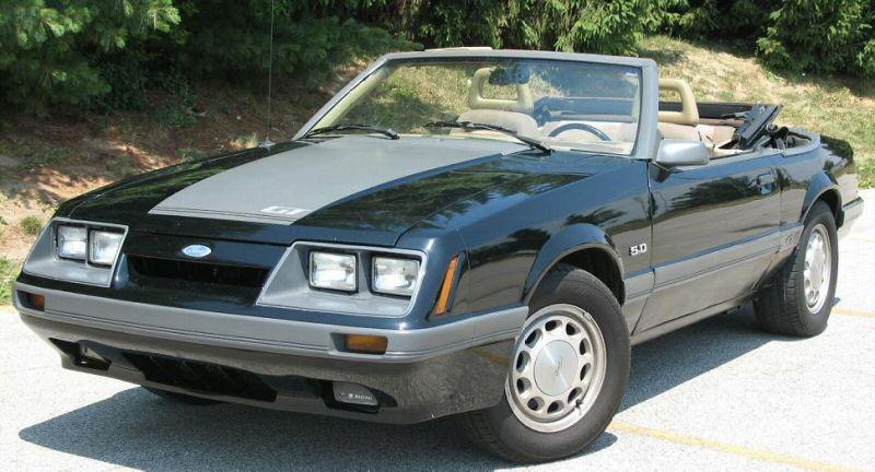 black 1985 ford mustang gt convertible photo detail. Black Bedroom Furniture Sets. Home Design Ideas