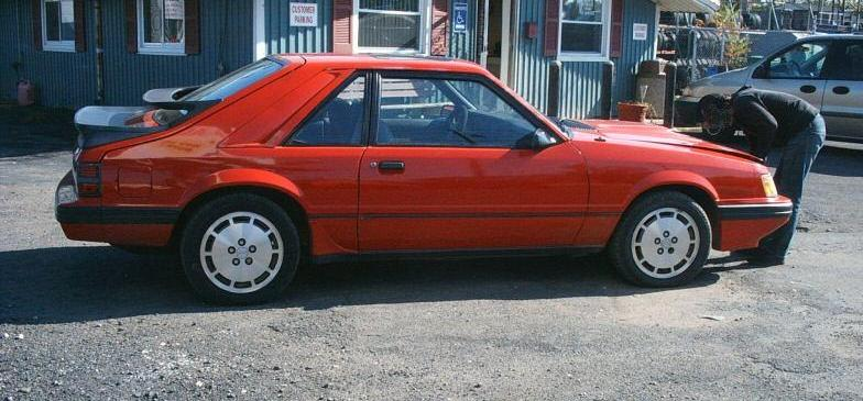 bright red 1985 svo ford mustang hatchback. Black Bedroom Furniture Sets. Home Design Ideas