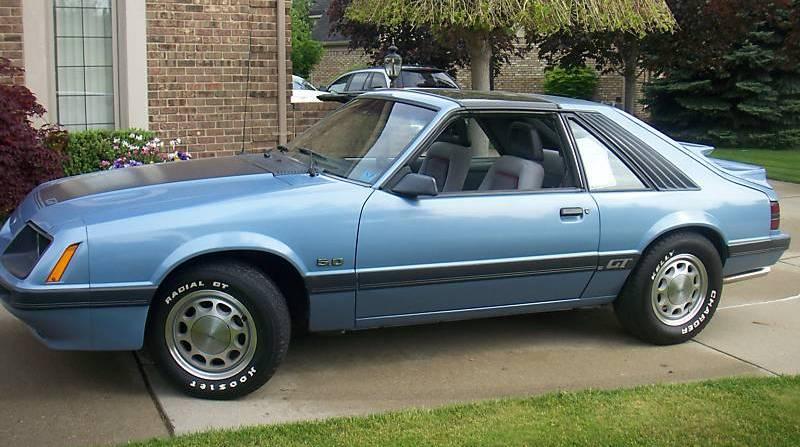 Light Regatta Blue 1985 Ford Mustang Gt Hatchback