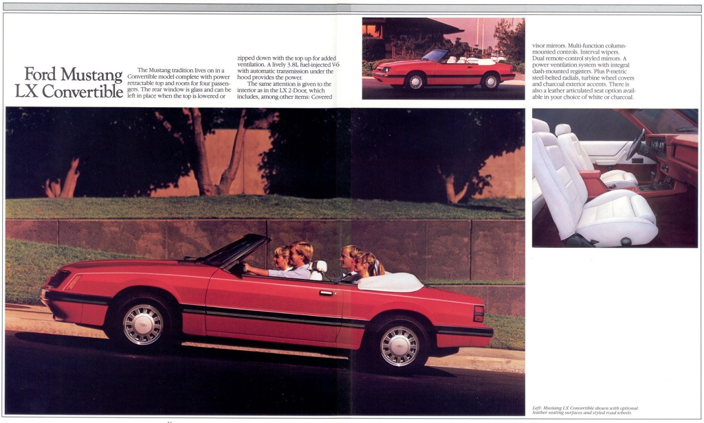 Mustang LX: 1985 Ford Mustang Promotional Brochure