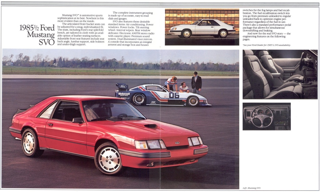 Mustang SVO: 1985 Ford Mustang Promotional Brochure