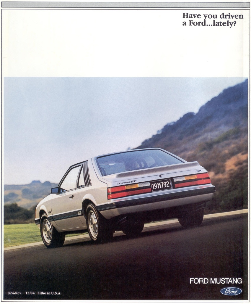 1985 Ford Mustang Promotional Brochure