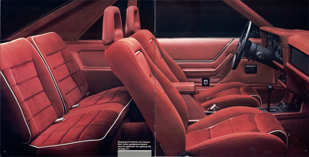 Page 6 & 7: 1986 Ford Mustang Promotional Brochure