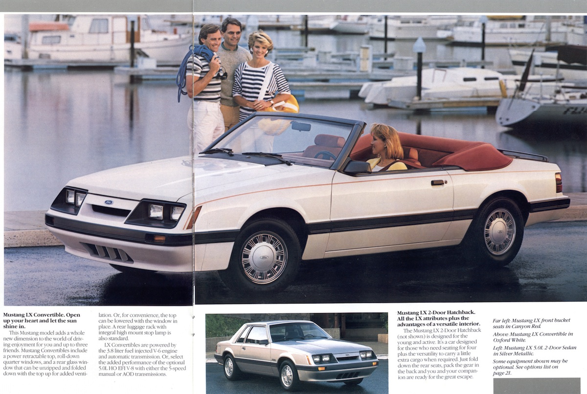 Page 10 & 11: 1986 Ford Mustang Promotional Brochure