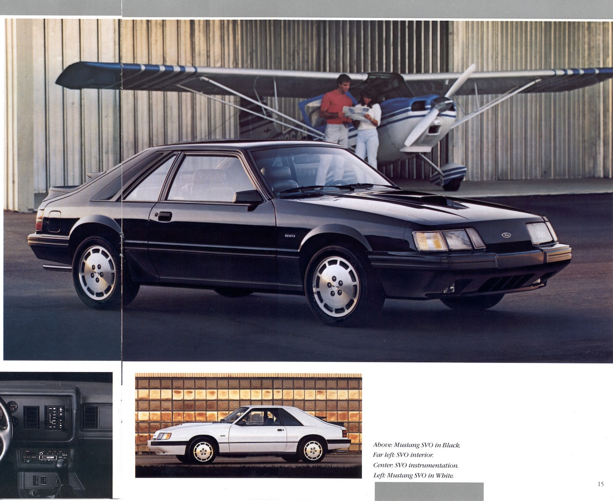 Page 14 & 15: 1986 Ford Mustang Promotional Brochure