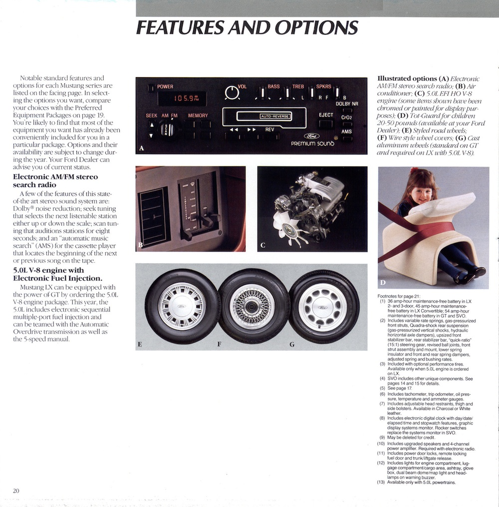 1986 Ford Mustang Promotional Brochure