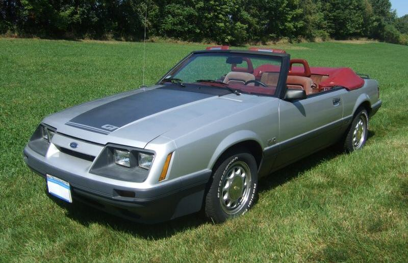 Silver 1986 Mustang GT convertible