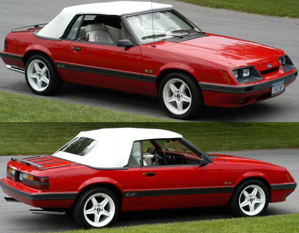 Bright Red 1986 Mustang GT Convertible