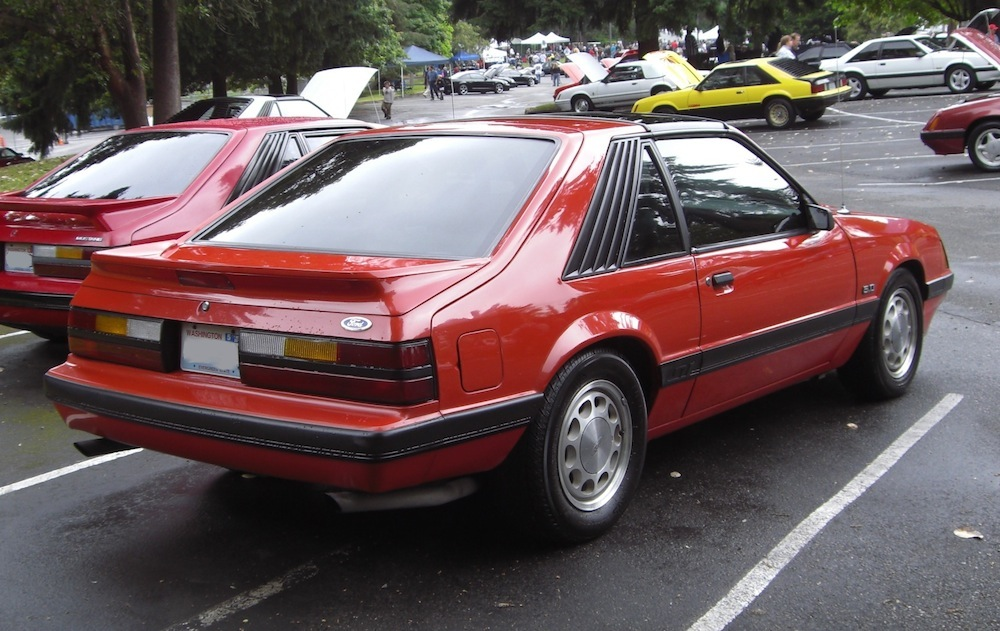 Bright Red 1986 Mustang 5.0L GT Hatchback