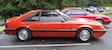 Bright Red 1986 Mustang Hatchback