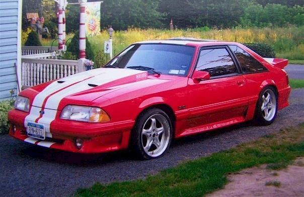 red 1987 ford mustang gt hatchback photo detail. Black Bedroom Furniture Sets. Home Design Ideas