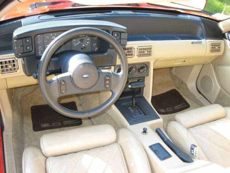 Guards Red 1987 Ford Mustang Asc Mclaren Convertible Mustangattitude Com Photo Detail