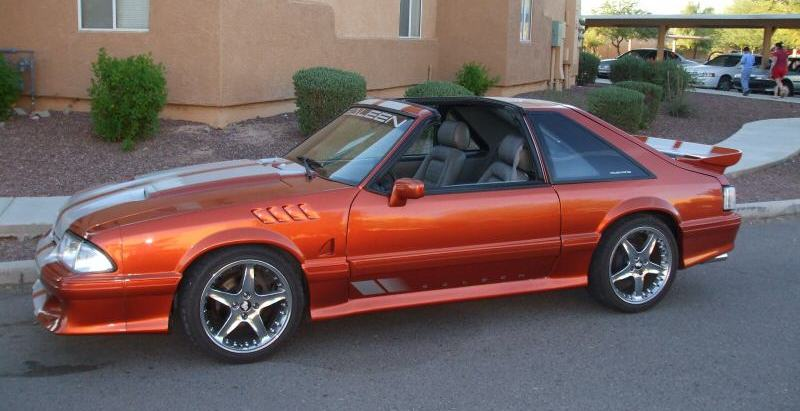 Sunburst Orange 1987 Mustang GT