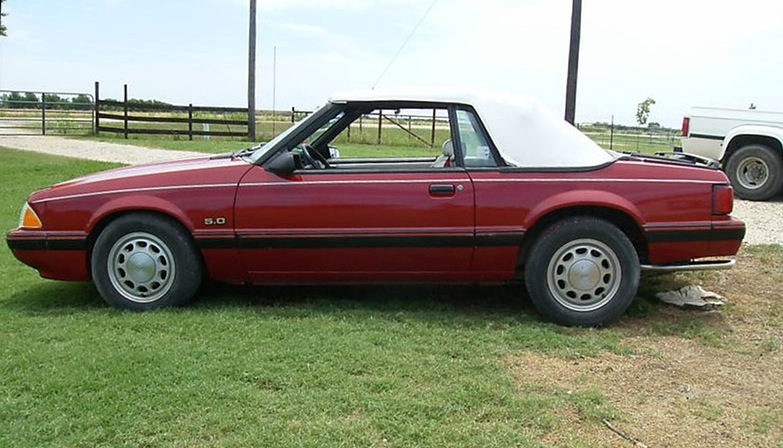 Medium Cabernet Red 87 Mustang Lx Convertible