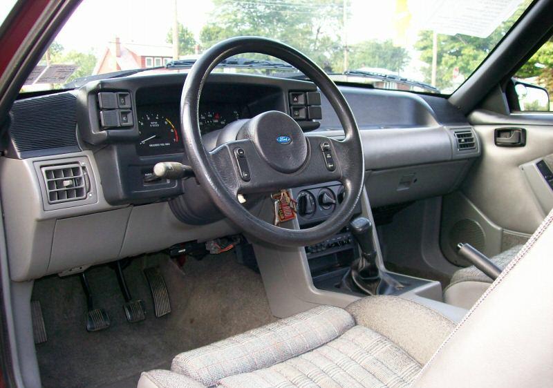 Cabernet Red 1988 Ford Mustang Gt Hatchback