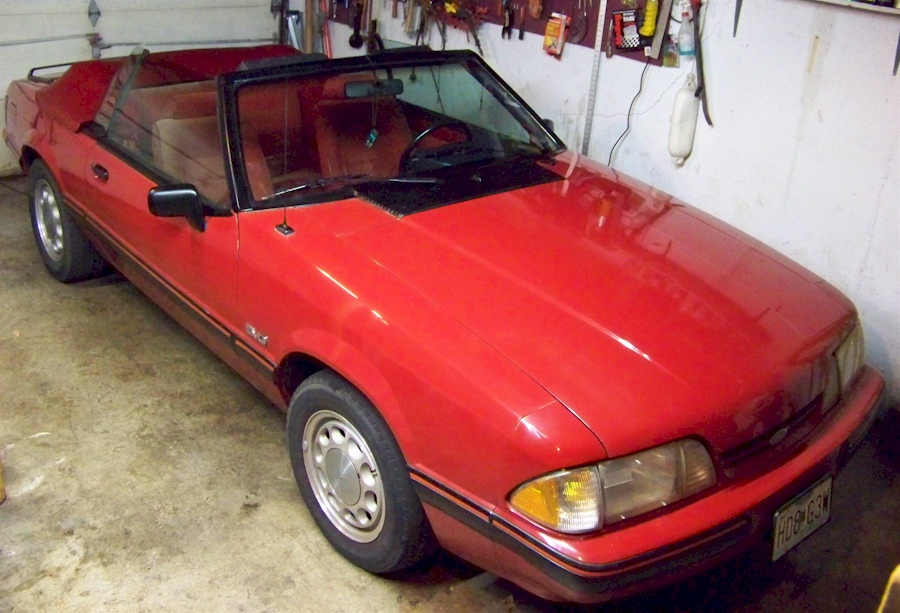 Scarlet Red 1988 Mustang Convertible