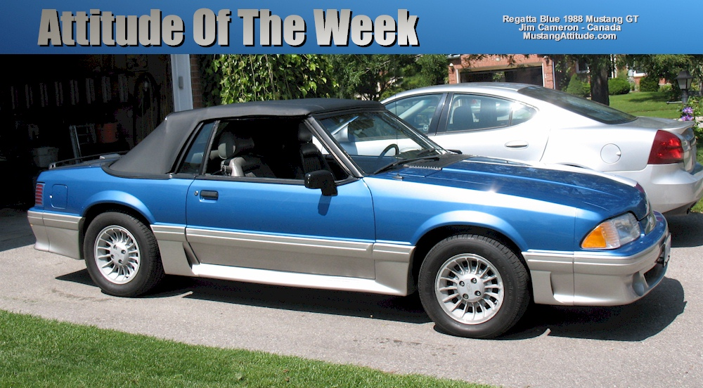 Regatta Blue 1988 Mustang GT Convertible
