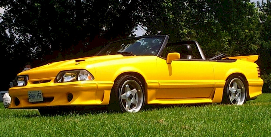 venom yellow 1988 ford mustang gt convertible photo detail. Black Bedroom Furniture Sets. Home Design Ideas