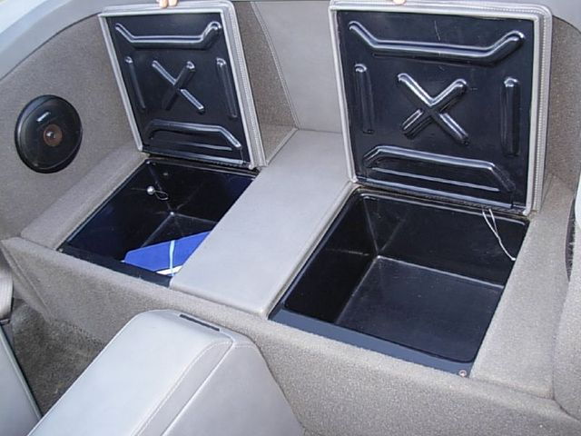 Rear Seat Storage Compartments