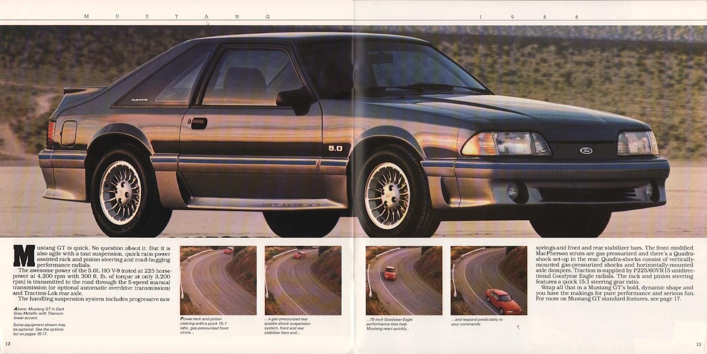 1988 mustang sales brochure