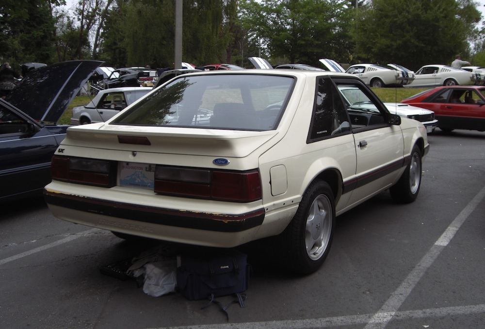 Almond Yellow 89 Mustang LX Hatchback