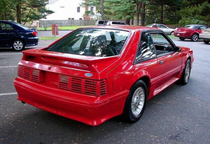 Bright Red 1989 Mustang GT