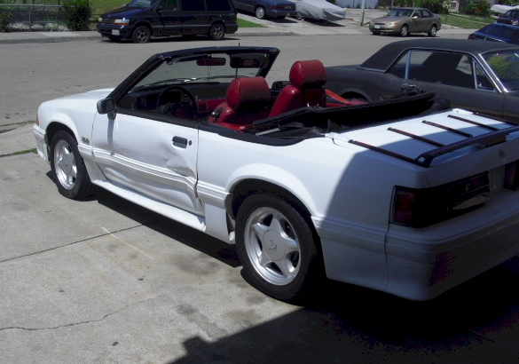 Oxford White 1989 Mustang GT Convertible