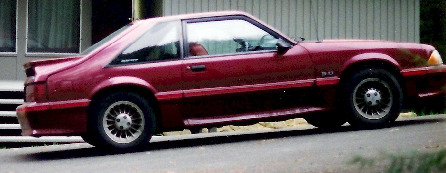 Cabernet Red 1989 Ford Mustang Gt Fastback