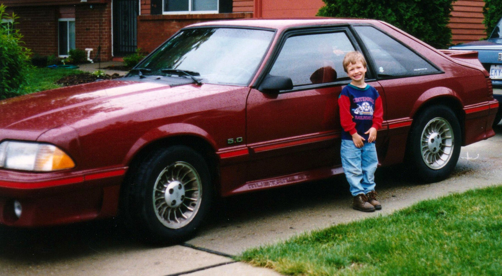 Cabernet Red 89 Mustang Gt