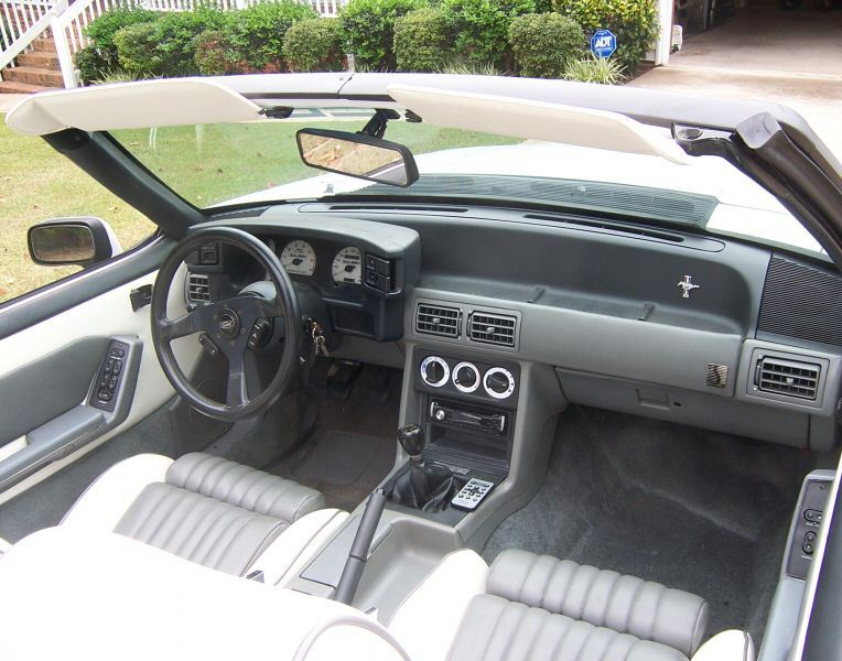 Oxford White 1989 Mustang Saleen Convertible