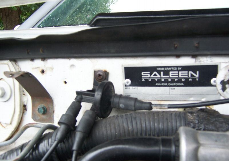 Saleen Engine Compartment Tag