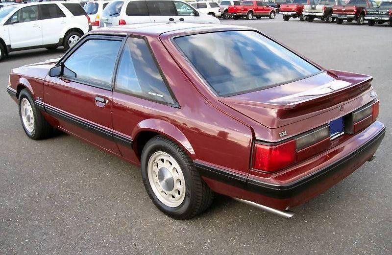 Cabernet Red 1989 Ford Mustang Hatchback  MustangAttitudecom