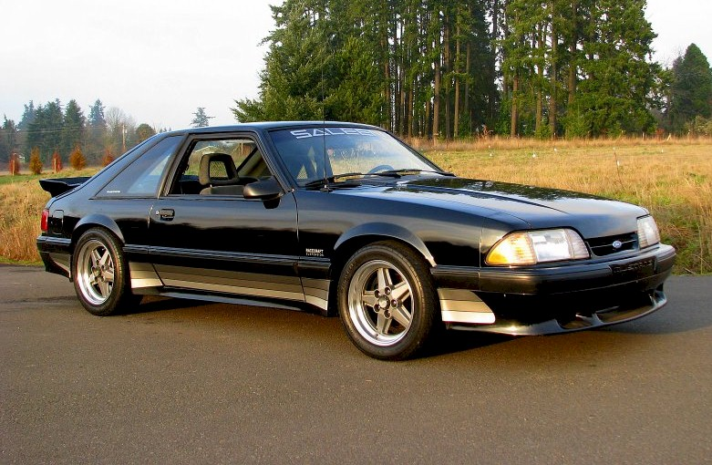 Black 1989 Ford Mustang