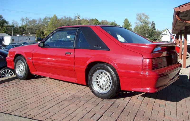 Scarlet Red 1989 Mustang GT Hatchback