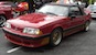Scarlet Red 1989 Saleen Mustang Convertible