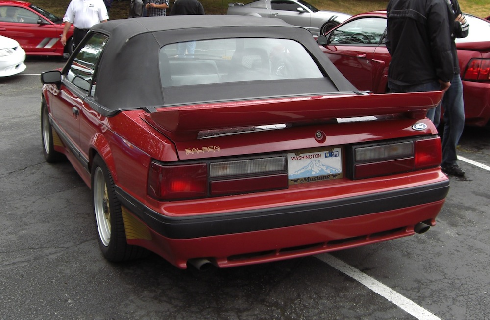 Scarlet Red 1989 Saleen Mustang Rear View